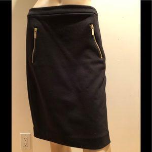 Michael Kors Stretch Black Pencil Skirt Size 2